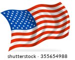 united states of america flag ... | Shutterstock . vector #355654988
