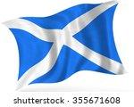 scottish  flag  isolated | Shutterstock . vector #355671608