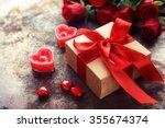 valentine's day  gift box of... | Shutterstock . vector #355674374