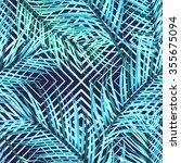 tropical flower geometry ... | Shutterstock . vector #355675094