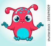 vector monster cartoon... | Shutterstock .eps vector #355694009