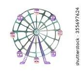 an illustration of a ferris... | Shutterstock . vector #355697624