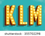 vector retro  letters with... | Shutterstock .eps vector #355702298