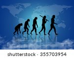 human evolution into the... | Shutterstock . vector #355703954