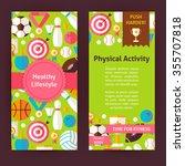 flyer template of healthy... | Shutterstock .eps vector #355707818
