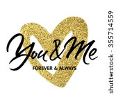 love card design 'you and me... | Shutterstock .eps vector #355714559