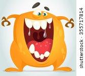 orange monster | Shutterstock .eps vector #355717814