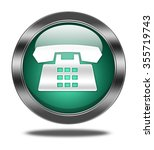 phone button isolated  | Shutterstock . vector #355719743