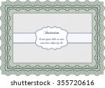 retro vintage invitation. with... | Shutterstock .eps vector #355720616