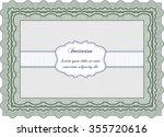 retro vintage invitation. with... | Shutterstock .eps vector #355720616