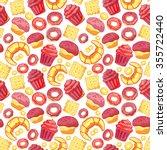 vector food bakery seamless... | Shutterstock .eps vector #355722440
