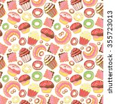 seamless pattern with various... | Shutterstock .eps vector #355723013