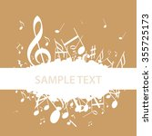 background music clef | Shutterstock .eps vector #355725173