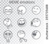 set of emoticon doodles for... | Shutterstock .eps vector #355735688