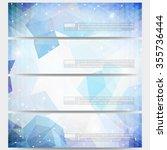 set of modern vector banners.... | Shutterstock .eps vector #355736444