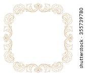 premium gold vintage baroque... | Shutterstock .eps vector #355739780
