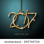 2017 happy new year background... | Shutterstock .eps vector #355744724