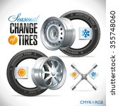 replacement tires for the... | Shutterstock .eps vector #355748060