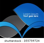 blue background graphic curve... | Shutterstock .eps vector #355759724