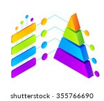 vector isometric colorful... | Shutterstock .eps vector #355766690