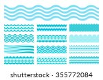 collection of marine waves. sea ... | Shutterstock . vector #355772084