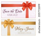save the date for personal... | Shutterstock . vector #355772099