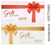 voucher template with floral... | Shutterstock . vector #355772483