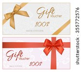 voucher template with floral... | Shutterstock . vector #355772576