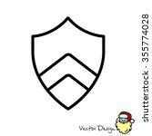 web line icon. shield. | Shutterstock .eps vector #355774028