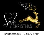 christmas sale illustration... | Shutterstock . vector #355774784