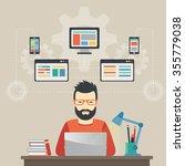 man software engineer concept... | Shutterstock .eps vector #355779038