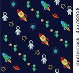 space pattern with planets...   Shutterstock .eps vector #355783928