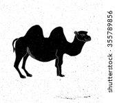 Camel Hand Drawn In Grunge...