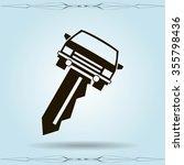 car key vector illustration   Shutterstock .eps vector #355798436