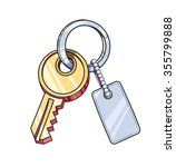 key with keychain. vector... | Shutterstock .eps vector #355799888
