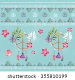 seamless colorful pattern with... | Shutterstock . vector #355810199