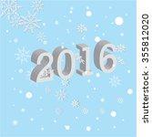 3d. new year 2016 . happy new... | Shutterstock .eps vector #355812020