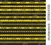 grunge vector set of caution... | Shutterstock .eps vector #355814330