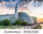 london. city buildings along...