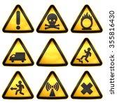 symbols triangular warning... | Shutterstock . vector #355816430