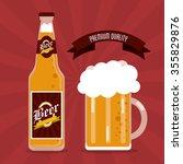 beer concept with glass design  ... | Shutterstock .eps vector #355829876
