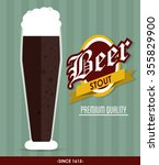 beer concept with glass design  ... | Shutterstock .eps vector #355829900