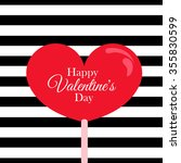 candy heart card.valentine's... | Shutterstock .eps vector #355830599