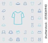clothes outline  thin  flat ... | Shutterstock . vector #355834940