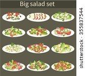 salad. big vector set.... | Shutterstock .eps vector #355837544