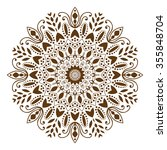 mandala. ethnic decorative... | Shutterstock .eps vector #355848704