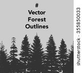 vector set of forest trees... | Shutterstock .eps vector #355850033