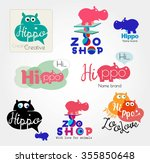 Hippo Logo. Animal Logo. Zoo...