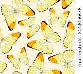 blue tropical butterflies and... | Shutterstock .eps vector #355856678