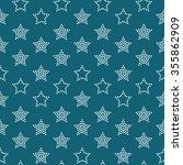 Seamless Stars Pattern. Dotted...